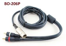 CablesOnline 6ft Bang & Olufsen 5-Pin Din Plug to 2RCA Plug Blue Audio Cable
