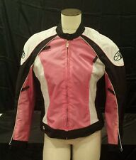 JOE ROCKET RACING pink MOTORCYCLE JACKET w/ PADS Womens / Girls Large L