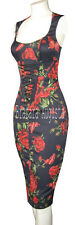 KAREN MILLEN NAVY & RED ROSES BUTTERFLY CORSET VERY RARE DRESS 8 BNWT