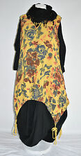 SARAH SANTOS  cotton/linen parachute dress & long floral dress SET  M/L