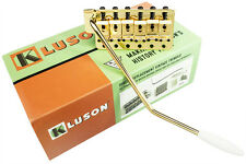 KLUSON Direct Replacement Vintage Tremolo Bridge for Stratocaster, Gold KVSTG