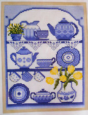 Blue China on a Kitchen Dresser - Semco cross-stitch kit to complete