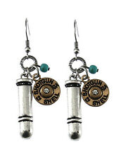NEW COUNTRY WESTERN SHOTGUN SHELL BULLET CHARM HUNTING WIRE EARRINGS NICEGIFT