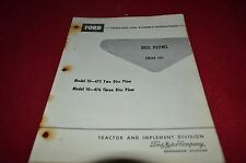 Ford Tractor 103 Disc Plow Operator's Manual YABE11