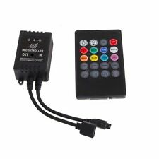 Music Sound Activated Controller For RGB LED Light Strip 20 Key Remote DC 12V