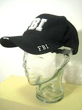 Black & White FBI FEDERAL BUREAU of INVESTIGATION Baseball Trucker Cap Hat