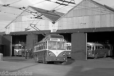 Rotherham Corporation Transport Trolleybus FET606 Mex.& Swinton Depot Bus Photo