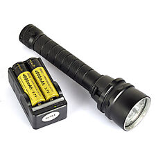 Underwater 100M 9000Lm 5X XM-L L2 LED Scuba Diving Flashlight Torch Waterproof