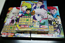 DVD Hunter x Hunter (2011) Complete Series Episode 1 - 148 Anime Box Eng Subs