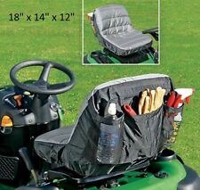 Padded cushion riding lawnmower replace seat cover pocket garden tool organizer