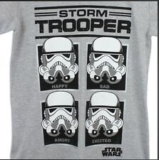Star Wars Strom Trooper Emotions T-shirt Cotton Medium Official Merchandise