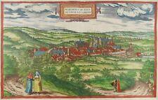 Blamont Lorraine Kol. vue Gravure Braun Hogenberg 1580 Lorraine vue j15