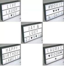 Cine De Estilo Mesa De Luz Led A4 69 letras Cambiable crear mensaje personalizado