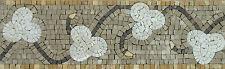 Leaf Tile Art Border Skirting Pool Garden Home Marble Mosaic BD519