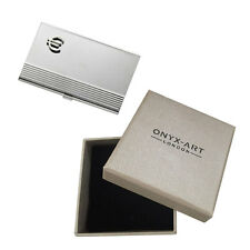 SILVER EURO SIGN SYMBOL BUSINESS CARD HOLDER GIFT BOX