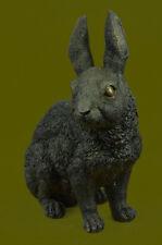 Rabbit Resting Garden Sculpture Metal Statue Indoor Outdoor 100% Bronze ArtUG