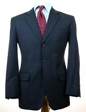 ASTOR & BLACK BESPOKE Staple Gray Pin Stripe MTM Suit 41 R Jacket Pants 36""