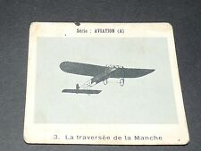 CHROMO PHOTO GLOBO 1937-1938 ALBUM AVIATION N°3 BLERIOT TRAVERSEE DE LA MANCHE