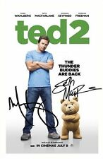 TED - SETH MACFARLANE & MARK WAHLBERG SIGNED A4 PP POSTER PHOTO 1