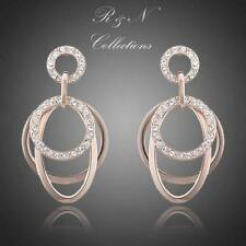18K Rose Gold Plated with Stellux Austrian Crystals inlaid Drop Earrings E168-16