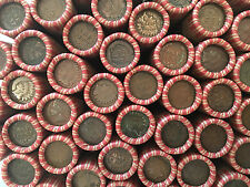 WHEAT PENNY ROLLS WITH INDIAN HEAD CENTS SHOWING! OLD ESTATE US COIN COLLECTION!