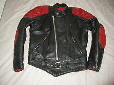 TT LEATHERS VINTAGE LEATHER JACKET BIKER MOTORCYCLE SIZE SMALL