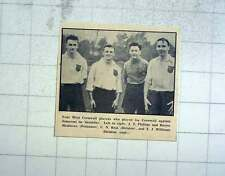 1956 West Cornwall Rugby Players, Phillips, Matthews, Helston, Williams