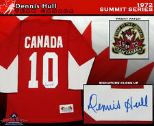 DENNIS HULL Signed 1972 Summit Series Team Canada Jersey - Chicago Blackhawks
