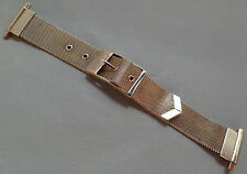 Vintage NOS New Old Stock Unique 1950s Mesh 16-22mm Yellow Gold Tone Watch Band