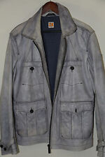 Hugo Boss Orange Label 'Jomi D' Gray Leather Jacket Size 42 R  Retails $895