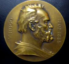 1902 France literature Centenary Of The Birth Of Victor Hugo Bronze Medal N 110
