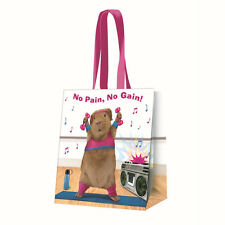 Guinea Pig Aerobics Gym long handled Shopping Bag PVC Tote Beach