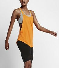 Nike 819397 ORANGE Womens XS Elevate Flow Tank Top Training Yoga Gym Loose Shirt