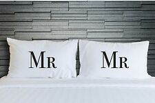 Couple Pillowcases Set Mr and Mr Gay Wedding Anniversary Gifts Bedding WSD771
