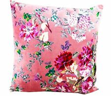 Linen Connections Velvet Pink Floral Cushion with Insert Home Decor 45*45CM