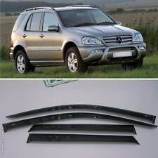 For Mercedes M W163 1996-2005 Window Side Visors Sun Rain Guard Vent Deflectors