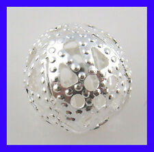 50 FILIGREE SILVER PLATED METAL SPACER BEAD~10mm~Bracelet~Earring~Necklace (87C)