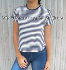 44% OFF! AUTH FOREVER 21 STRIPE TOP TEE SMALL BNEW SRP US $10.90+