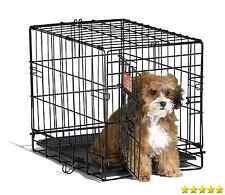 "Small Dog Crate Cage Pet Single Door Training Iron Wire Travel Cat Puppy 18"" New"