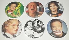 6 Robin Williams badges 25mm Shazbot! Nimnul Good Morning Vietnam Flubber