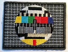 Testbild Aufnäher / Aufbügler Bügelbild TV bunt Applikationen patch KULT Bild