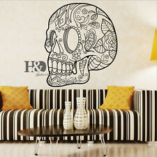 Wall Room Decor Art Vinyl Sticker Mural Decal Skull Skeleton Big Large Halloween