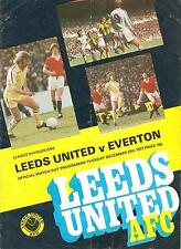 Leeds v Everton - Division 1 - 1977/78