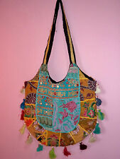 BANJARA VINTAGE TRIBAL BOHEMIAN PATCHWORK HANDMADE GYPSY SHOULDER BOHO BAG 89