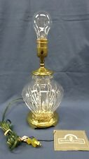 """1361M Vtg 1992 Signed WATERFORD Crystal 12"""" Table Lamp w/Original Tags"""