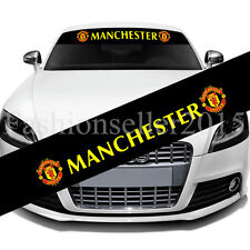 MANCHESTER United FC Front Windshield Decal Vinyl Car Stickers Logo Decorations