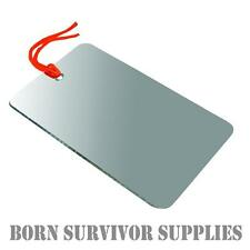 Ultimate Survival UNBREAKABLE SIGNALLING MIRROR - Compact Signal Camping Travel