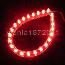 DC12V Red 24cm 24LED PVC Flexible LED Strip Light Waterproof for Car Motorcycle
