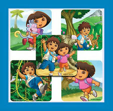 16 Dora the Explorer & Go Diego Go Stickers Party Favors