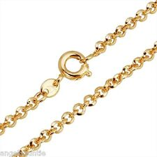 18K Yellow Gold Filled Rings Link Necklace (N-128)